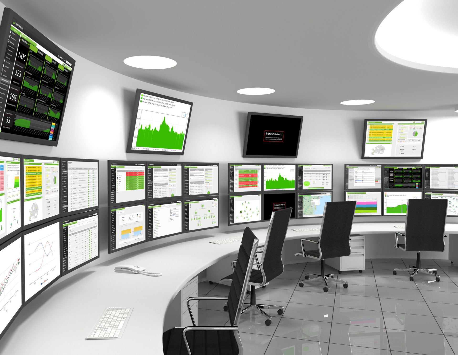 Image of a network operations centre.
