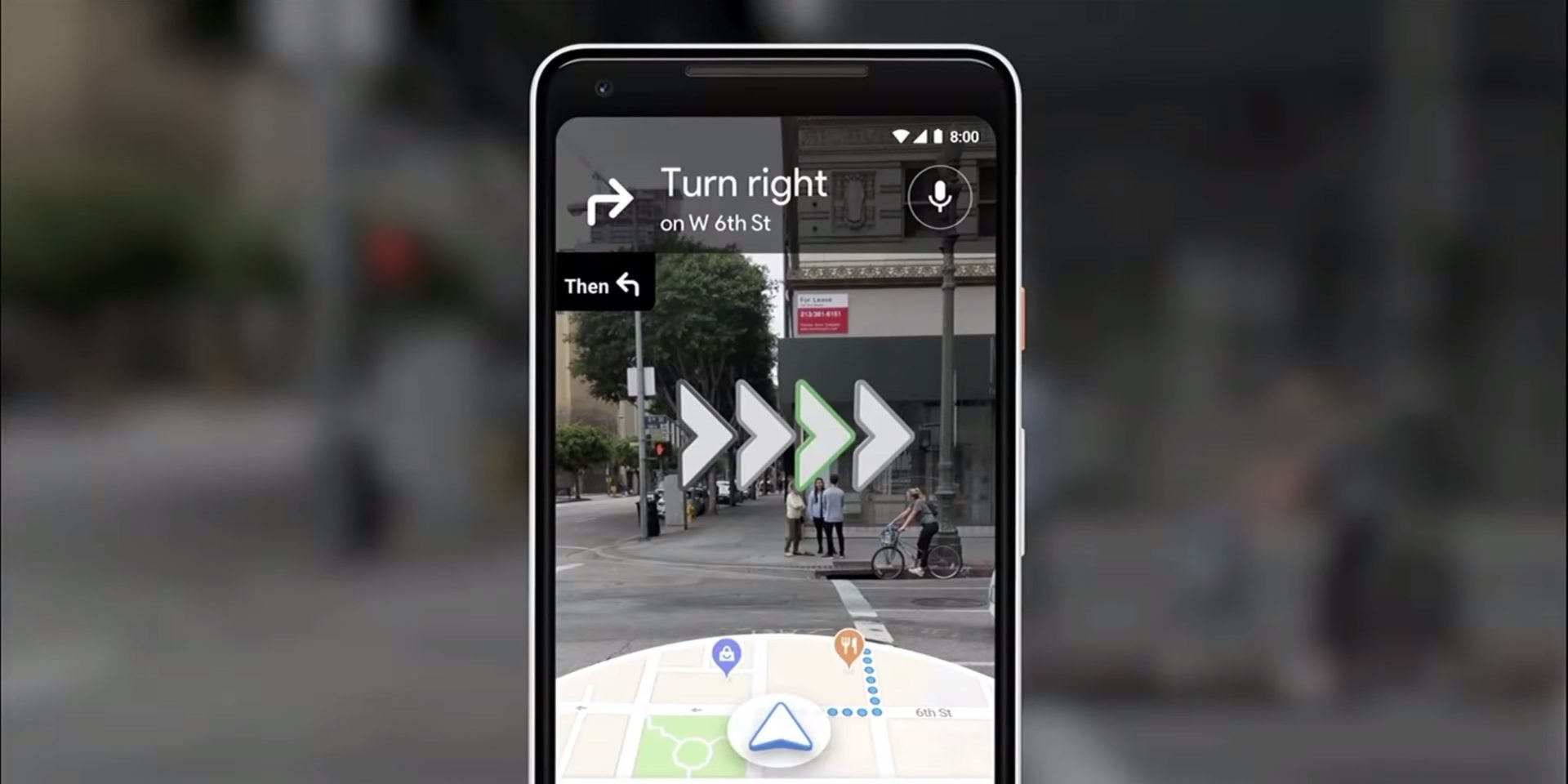 Image of google maps directions with AR.