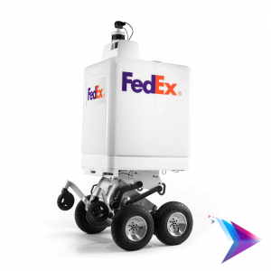Image of the FedEx delivery Robot