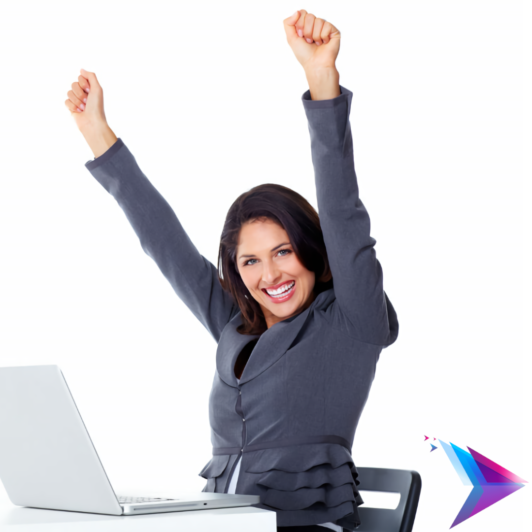 image of excited person using mailguard.