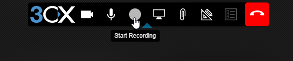 Start Recording button on a 3cx Web Meeting.
